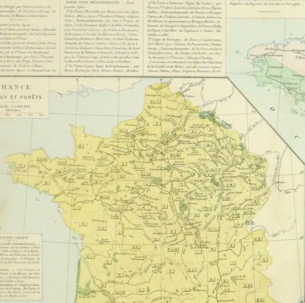 France Railways Map, 1883-detail 2-9379K