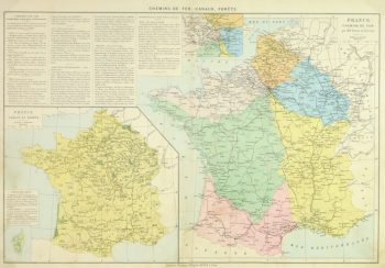 France Railways Map, 1883-main-9379K