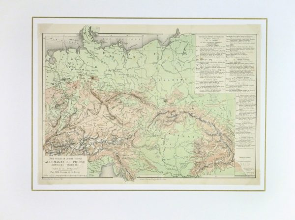 Germany & Prussia Map, 1886-matted-9380K