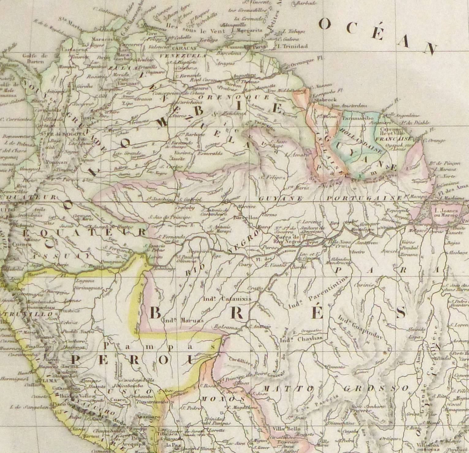 South America Map, 1843-detail 2-9386K