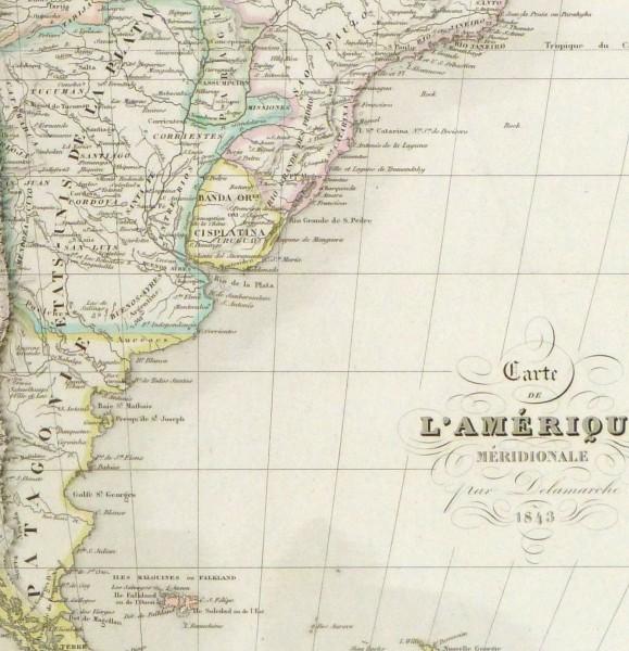 South America Map, 1843-detail-9386K