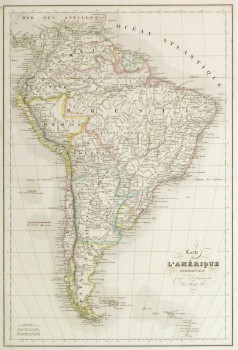 South America Map, 1843-main-9386K