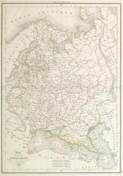 Russia Map, 1838-main-9387K