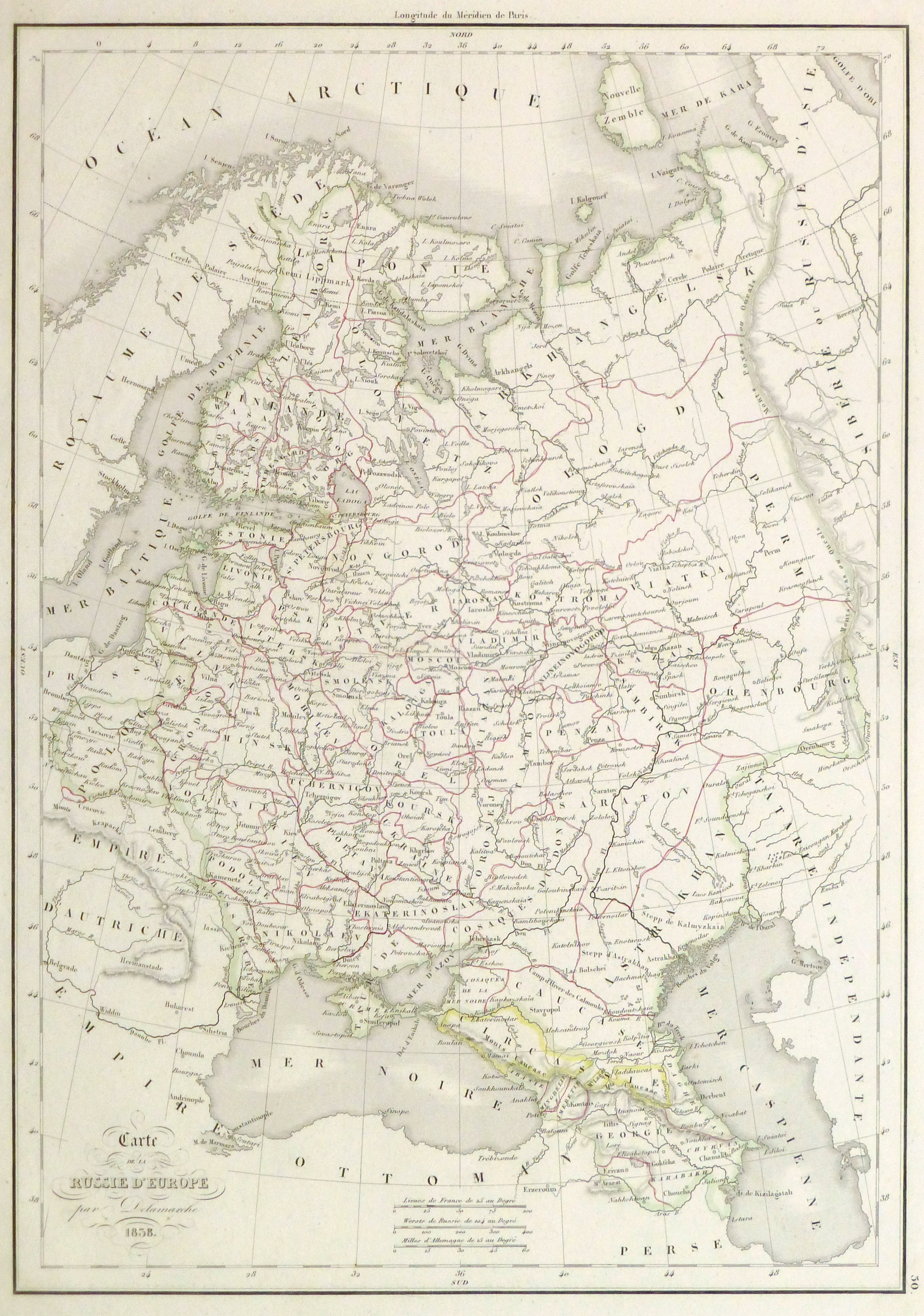 Russia Map, 1838-main-9387K