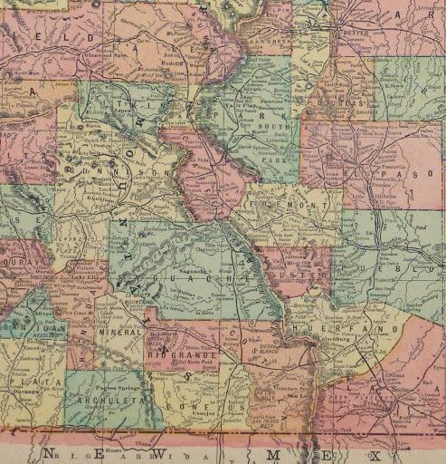 Colorado Map Art.Colorado Map 1903 Original Art Antique Maps Prints