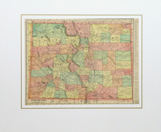 Colorado Map, 1903-matted-9415K