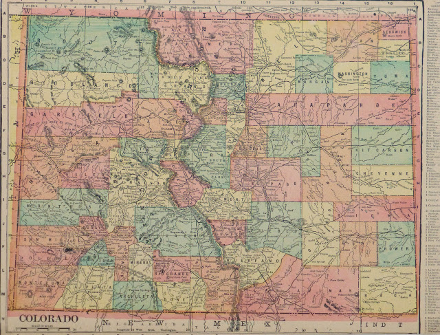Colorado Map, 1903-main-9415K