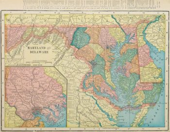Maryland & Delaware Map, 1903-main-9418K