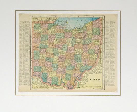 Map - Ohio, 1903-matted-9419K