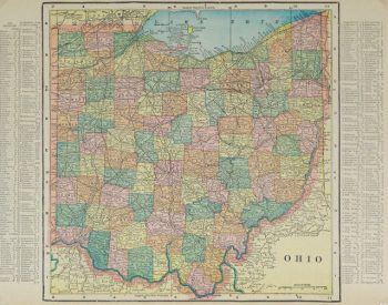 Map - Ohio, 1903-main-9419K