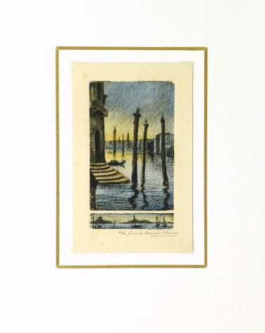 Venice Grand Canal, Circa 1895-matted-9507K