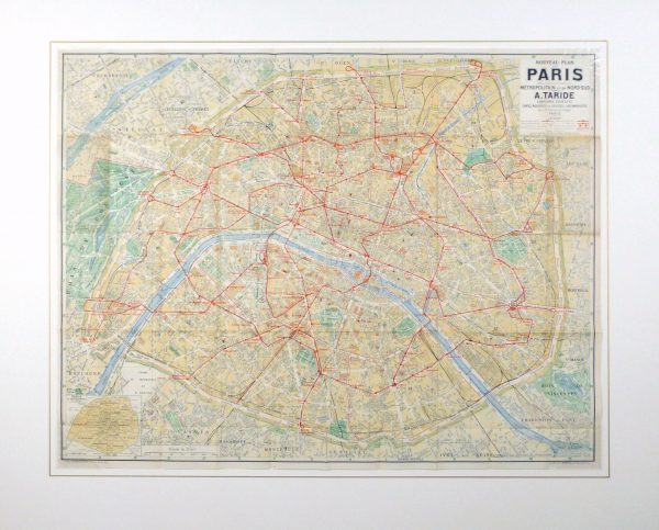 Paris Metro Map, C. 1910-matted-9622K