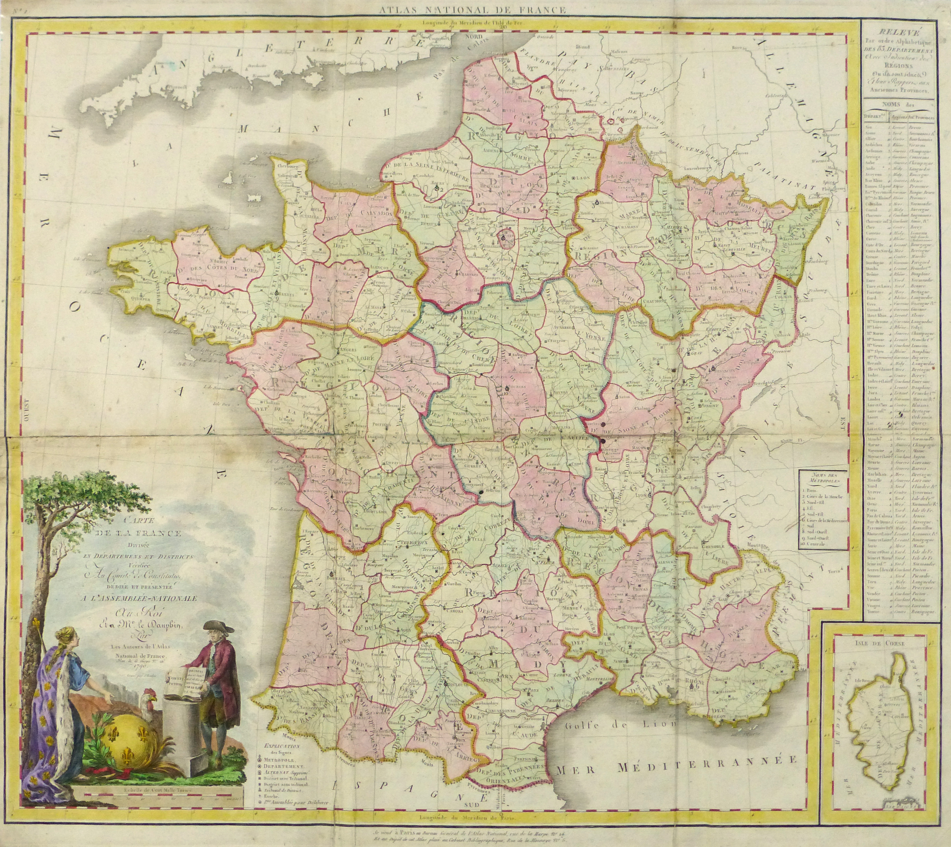 Map Of France During The French Revolution.Large Map Of France 1790