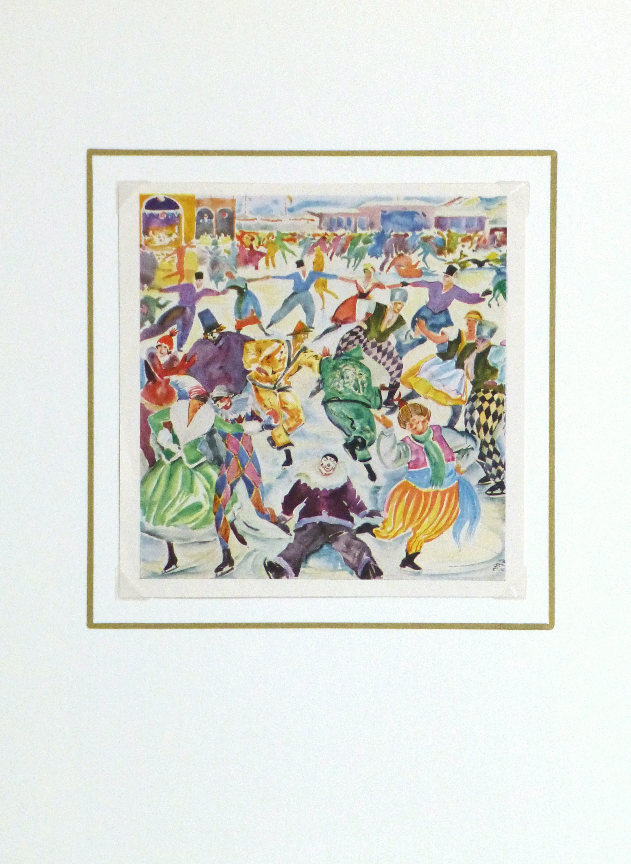 Ice Rink Print, 1929-matted-9795K