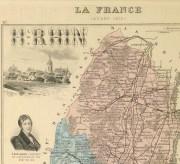 Map of France, 1876-detail 2-9935K