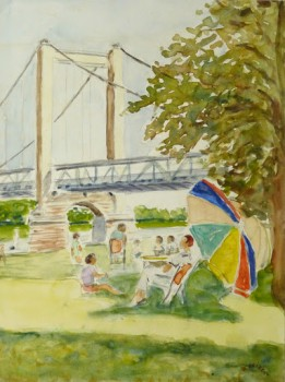 Watercolor- French Park, 1973-main-9513K