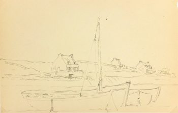 Drawing - Shore of Brittany, Circa 1940-main-K3774