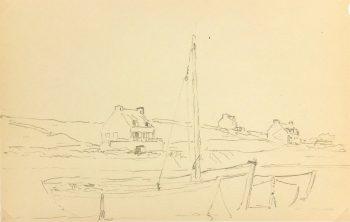 Drawing - Shore of Brittany, Circa 1940-main-K3774