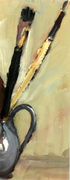 Still Life Painting - Artist Brushes, Circa 1960-main-K5101