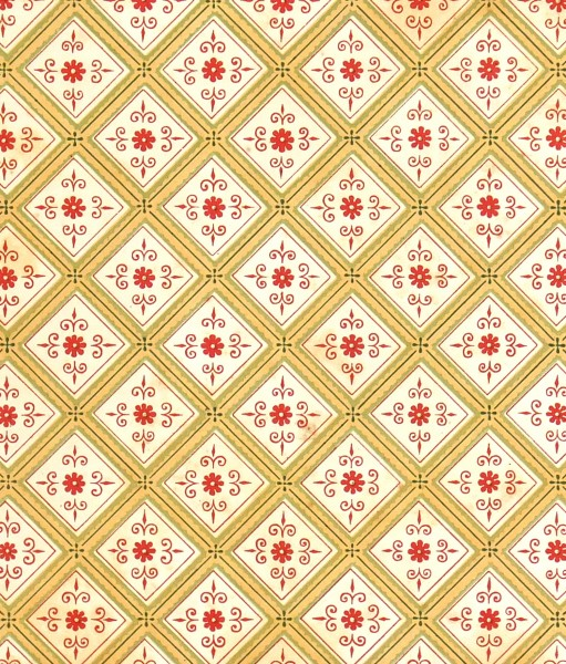 French Ceiling Antique Print, 1867-detail-K5130