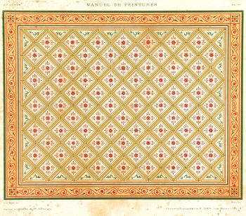 French Ceiling Antique Print, 1867-main-K5130