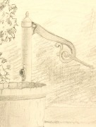Drawing - Water Pump, 1889-detail-K5175