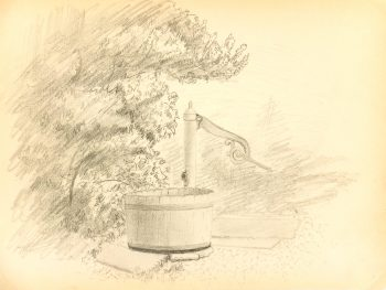 Drawing - Water Pump, 1889-main-K5175