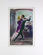 Tango Watercolor, 1987-matted-KB1379