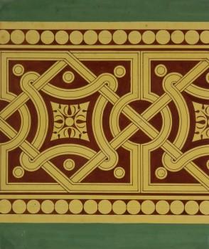 Interlocking Design Painting, Circa 1900-main-KB1494