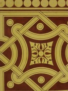 Interlocking Design Painting, Circa 1900-detail-KB1494