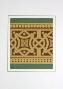 Interlocking Design Painting, Circa 1900-matted-KB1494