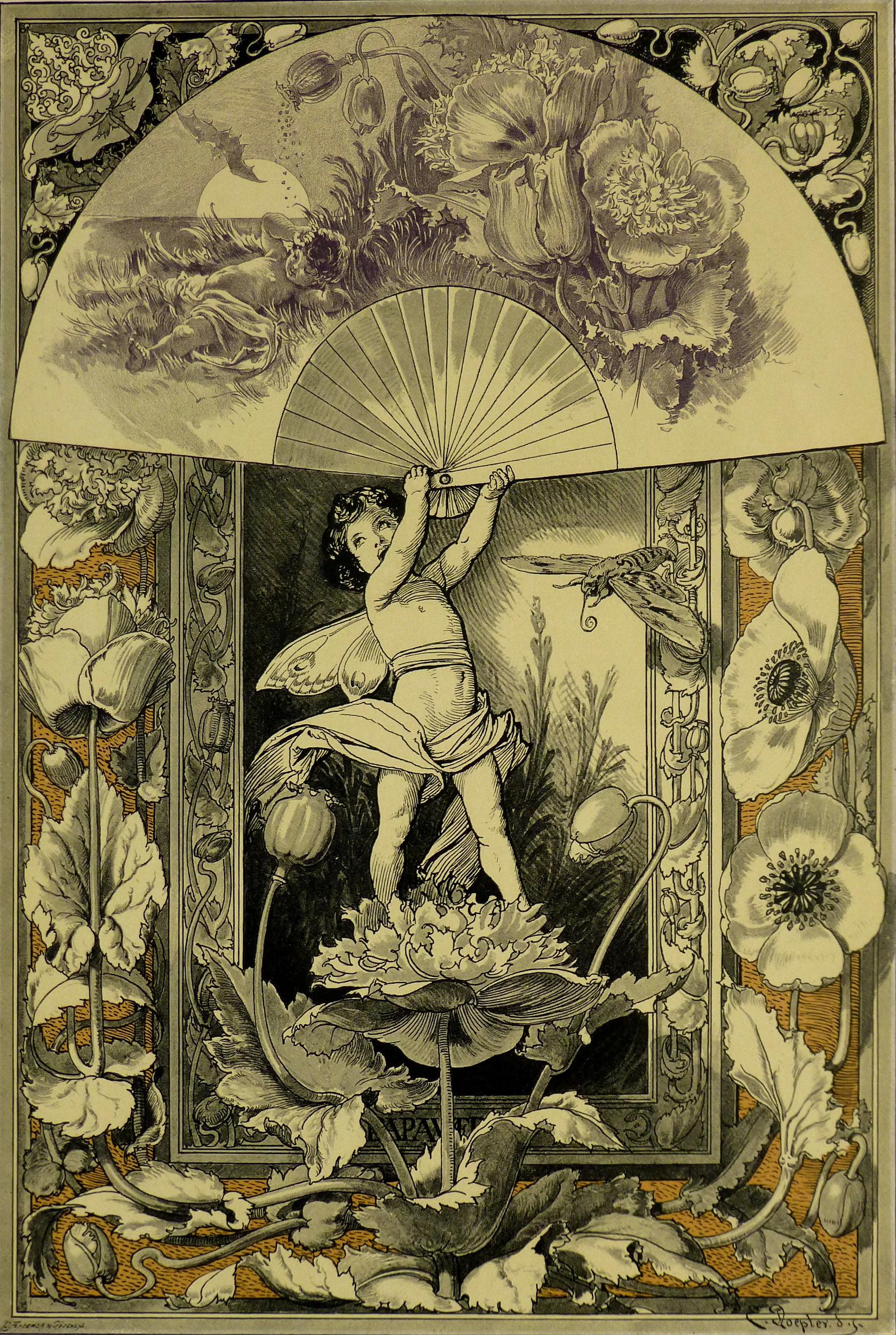 Delicate Garden Antique Print, 1886-main-KB1651