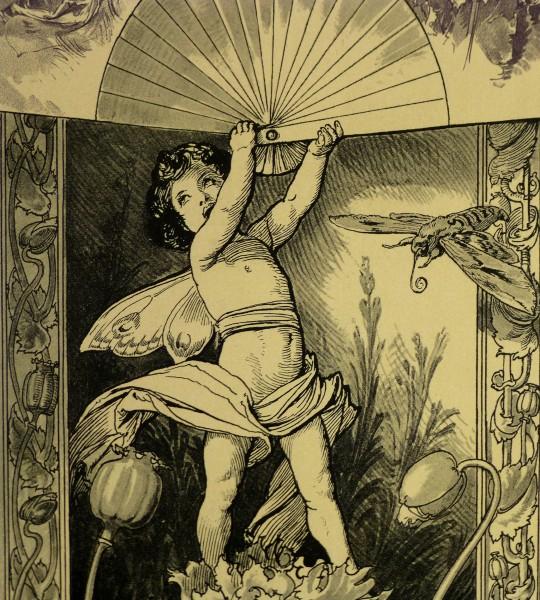 Delicate Garden Antique Print, 1886-detail-KB1651