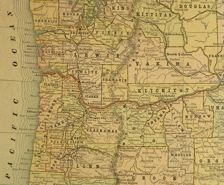 Map - Washington & Oregon, 1900-detail-KB1693