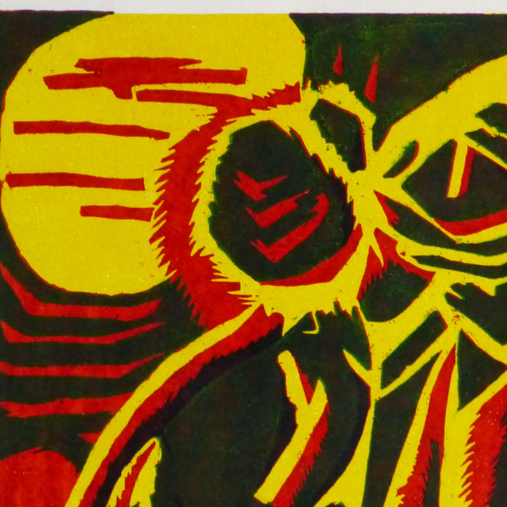 Abstract Woodcut - This Place, 1996-detail 2-10462M