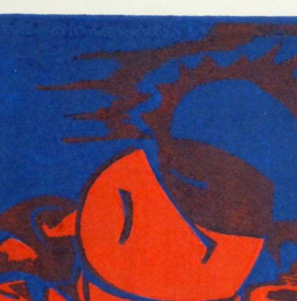Abstract Woodcut - Trihelio I, 1996-detail 2-10463M