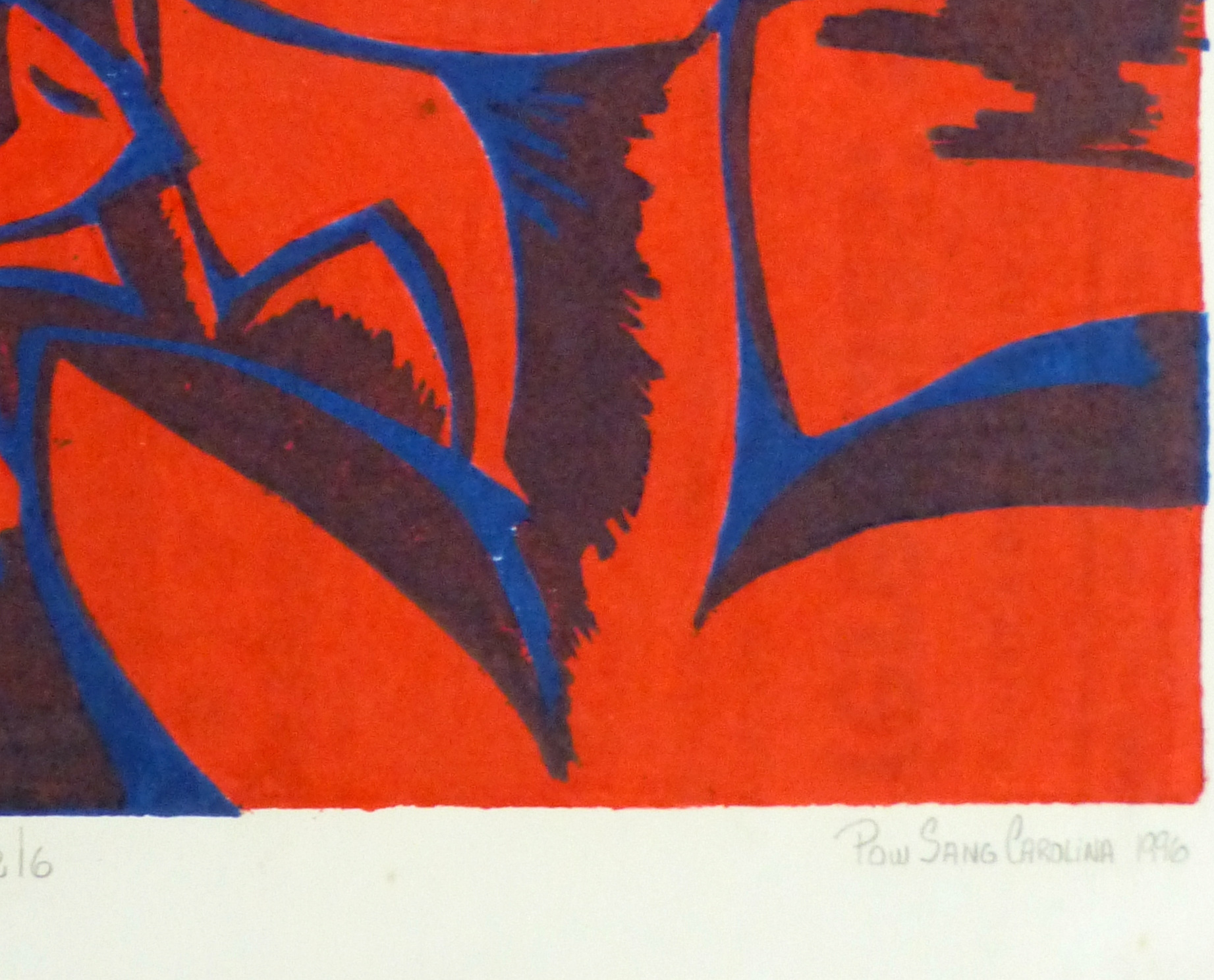 Abstract Woodcut - Trihelio I, 1996-detail-10463M
