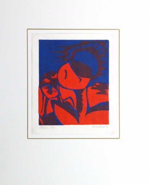 Abstract Woodcut - Trihelio I, 1996-matted-10463M