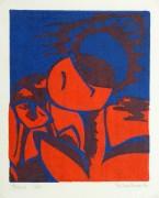 Abstract Woodcut - Trihelio I, 1996-main-10463M