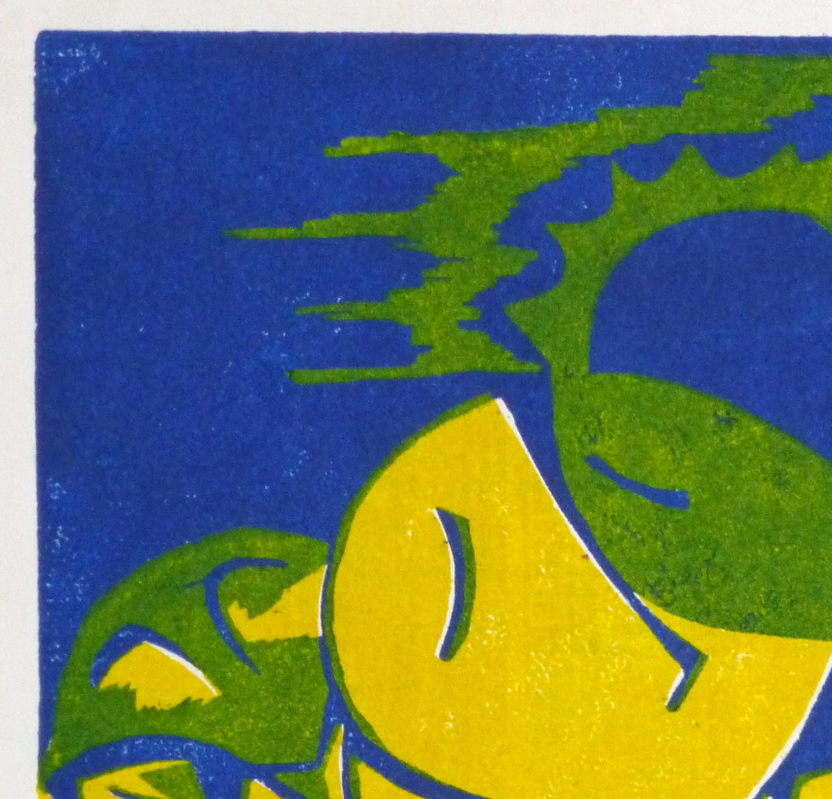 Abstract Woodcut - Trihelio II, 1996-detail 2-10464M