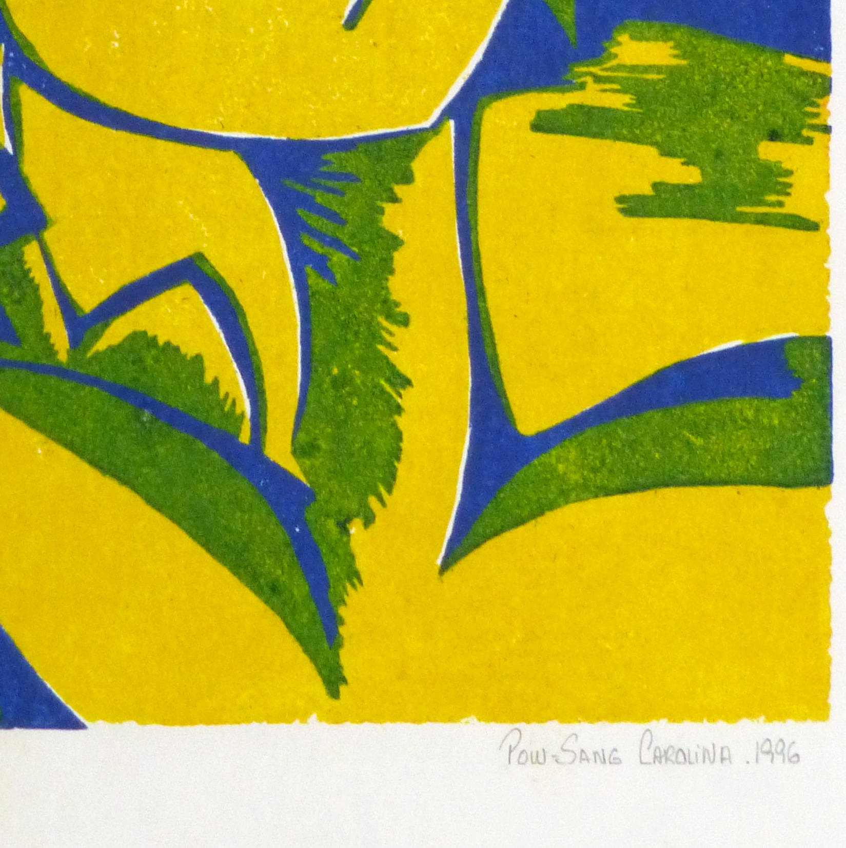 Abstract Woodcut - Trihelio II, 1996-detail-10464M