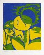 Abstract Woodcut - Trihelio II, 1996-main-10464M