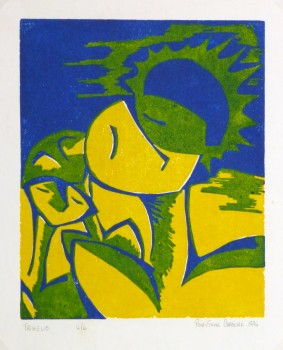 Abstract Woodcut - Trihelio II, 1996-main-10464M