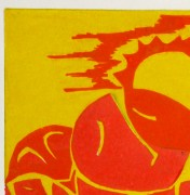 Abstract Woodcut - Trihelio III, 1996-detail 2-10465M