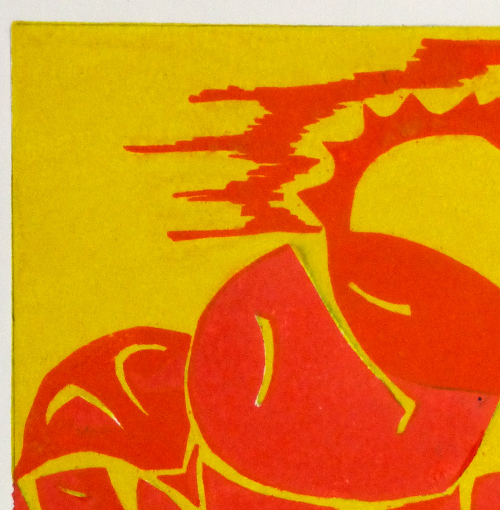 Abstract Woodcut - Trihelio III, 1996-detail 2-10465M
