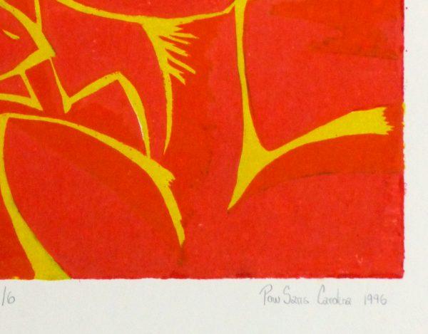 Abstract Woodcut - Trihelio III, 1996-detail-10465M