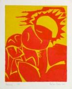 Abstract Woodcut - Trihelio III, 1996-main-10465M