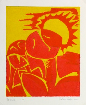 Abstract Woodcut - Trihelio III, 1996-main-10465M