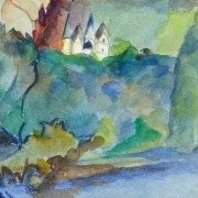 Watercolor- Among the Leaves, Circa 1950-detail-10475M
