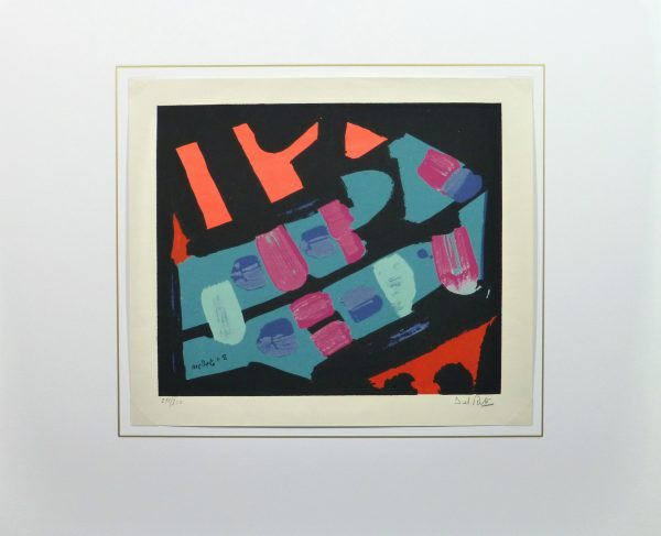 Abstract Lithograph, 1978-matted-10477M